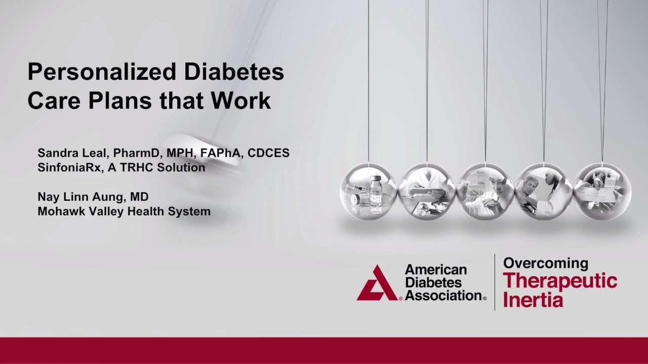 Personalized Diabetes Care Plans Webinar